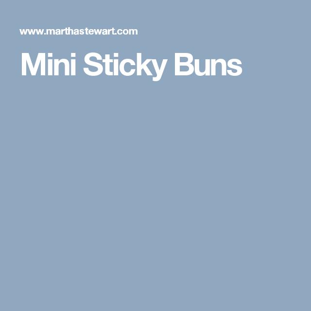 Mini Sticky Buns