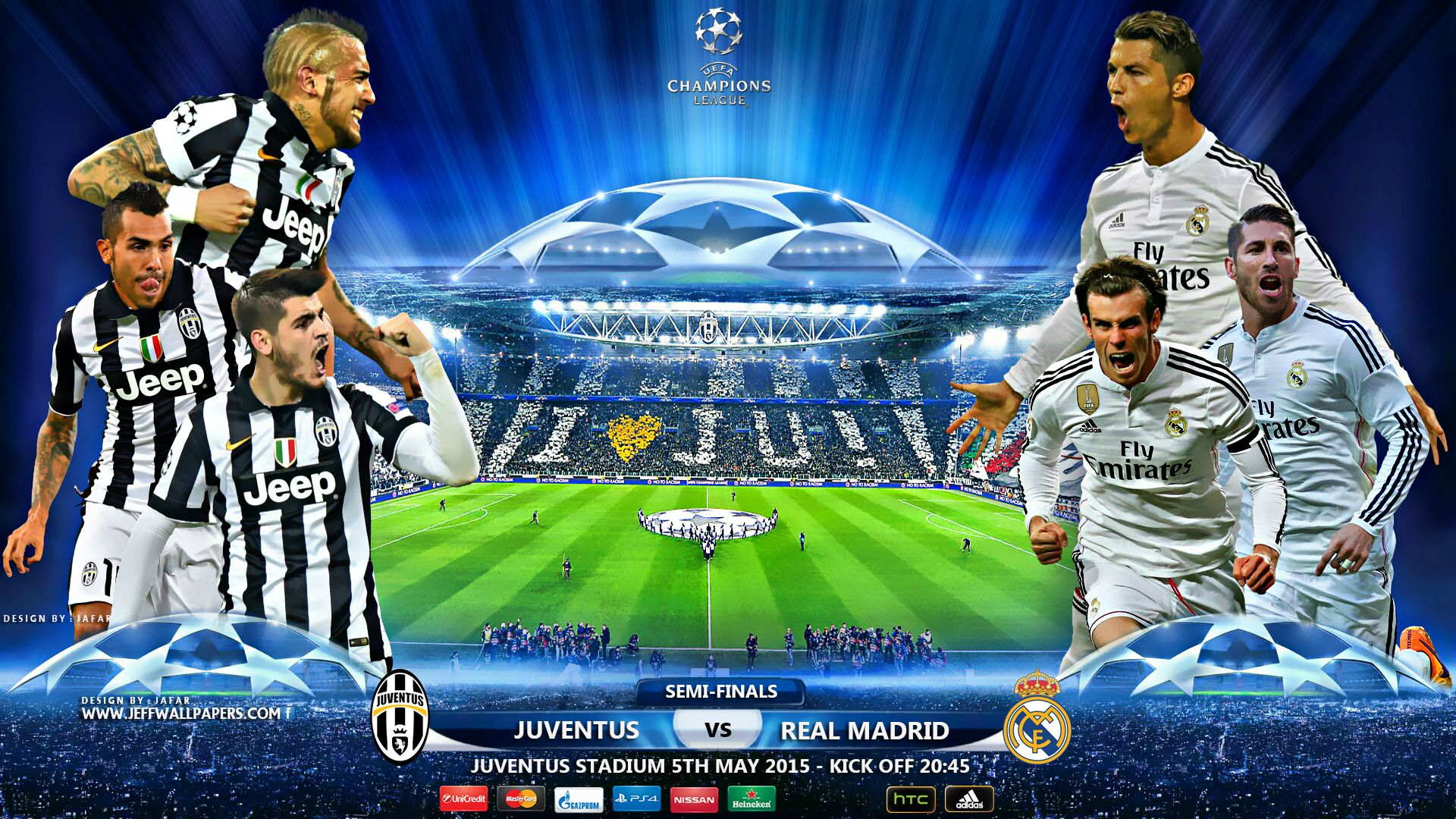 juventus vs real madrid uefa champions league semifinal to get updated with uefa then