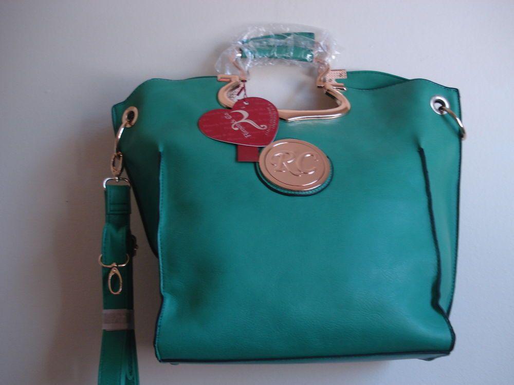 GEORGEOUS NEW(TAGS) RIMEN & CO GREEN/GOLD FRAME HANDBAG in Handbags & Purses | eBay
