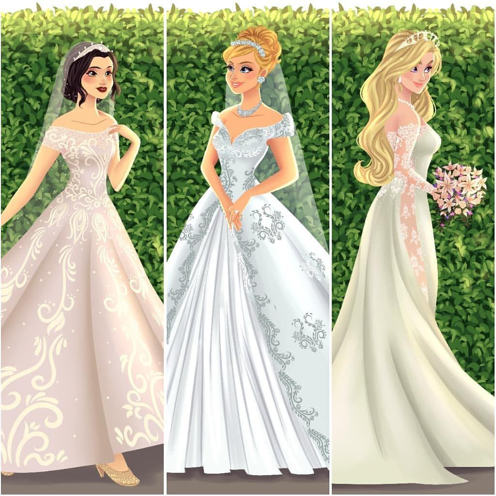 Who Is Your Favorite In This Collection Princessbride Archibaldart Snowwhite Cind Disney Bride Disney Princess Dresses Disney Princess Wedding [ 1024 x 1024 Pixel ]