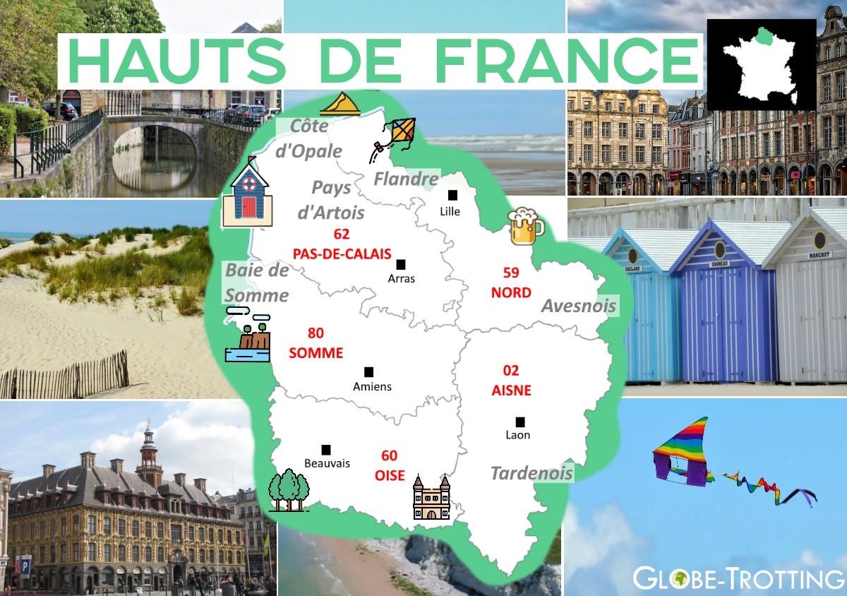 Carte touristique Région Hauts-de-France en 2020 | Carte ...