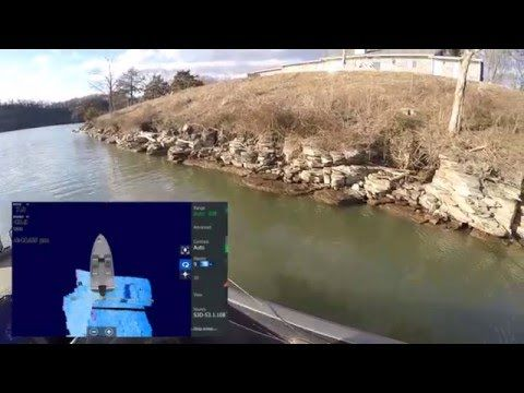 How a bluff Wall looks using Lowrance StructureScan 3D
