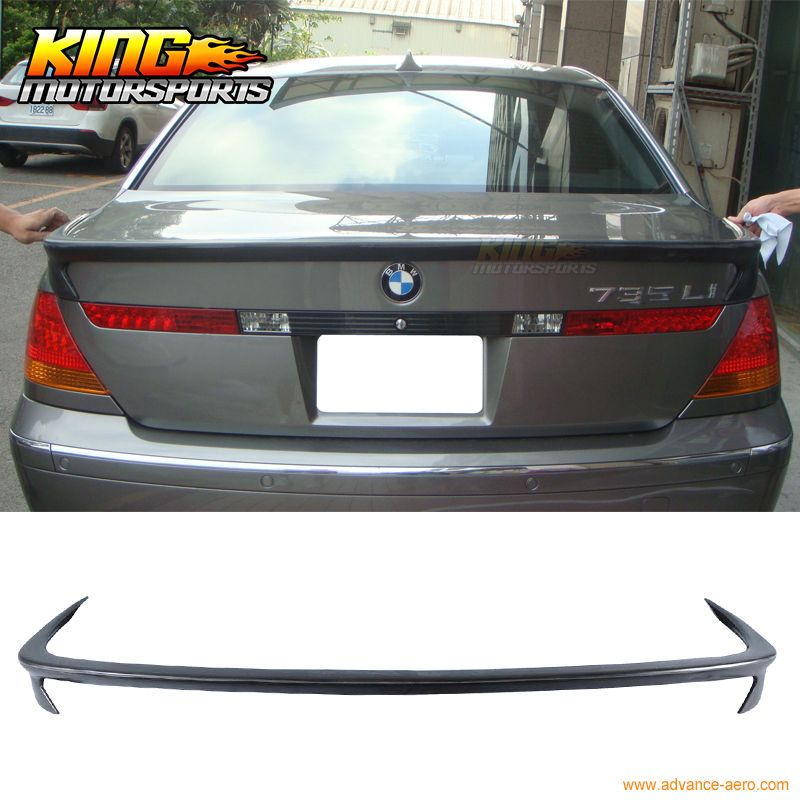 For 02 03 04 05 Bmw E65 7 Series Ac S Style Rear Trunk Spoiler Pu 745i 760i 760li Bmw Replacement Parts Cool Things To Make