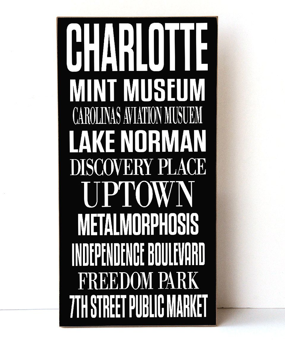 Love this Charlotte Subway Wall Sign by Vinyl Crafts on #zulily! #zulilyfinds