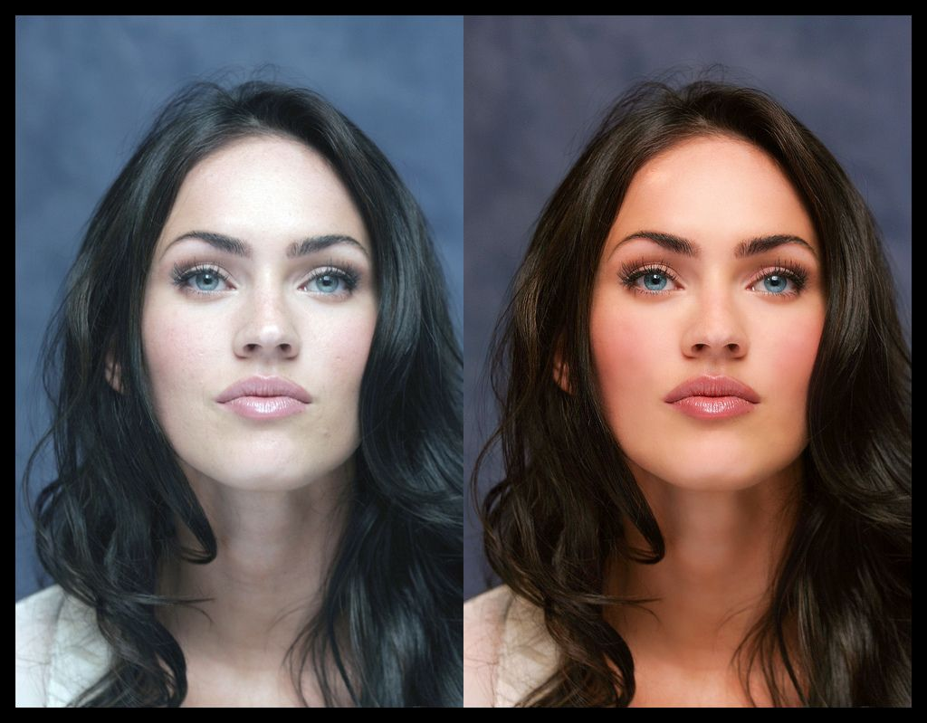 models before and after retouching | 20 female celebrities: before