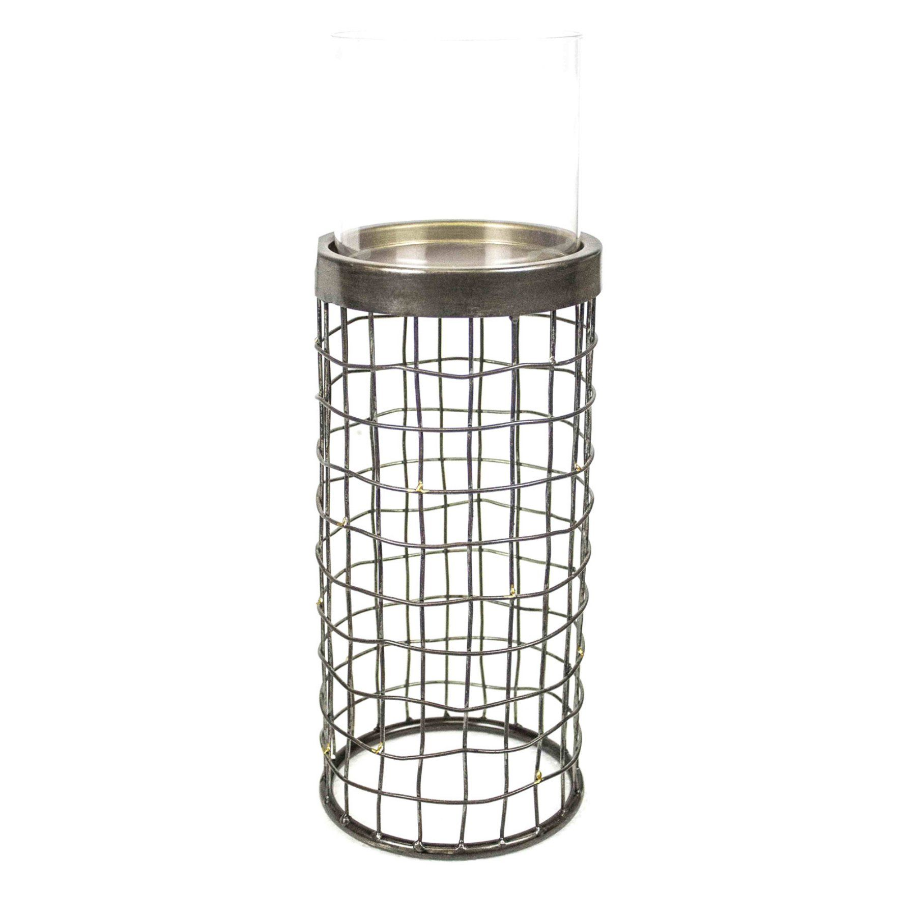 Sagebrook home metal grid candle holder metals and products