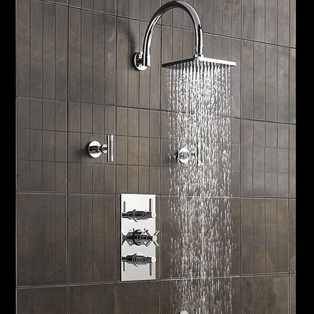 Shower faucet triller renovation board pinterest for Master bathroom fixtures