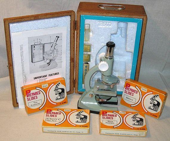 Vintage 600X Tasco Microscope KitWood Case48 by PleaseRingBell, $45.00