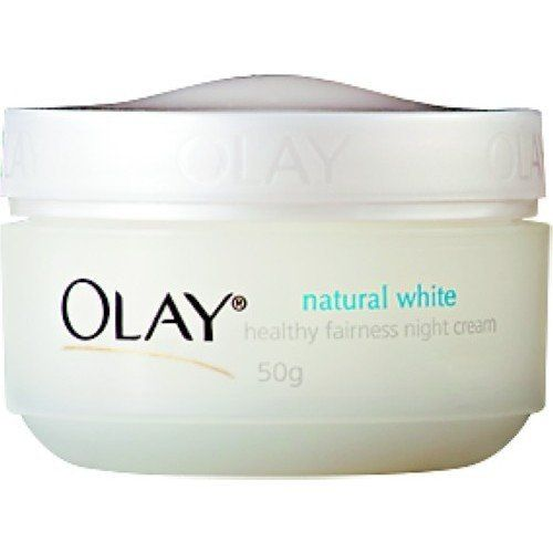 Olay Natural White Night Cream fairness 50 g. by Olay. $19.45. 2X whitening effect. Reveals healthy and radiant skin. Nourishes skin from deep inside. Intense moisturizing. Details   Olay Natural White Night Cream fairness  -Nourishes skin from deep inside  -2X whitening effect  -Intense moisturizing  -Reveals healthy and radiant skin  -50 grams