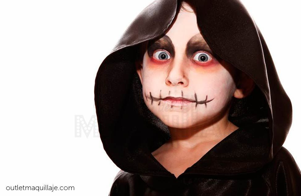 Maquillaje de jorobado halloween ni os halloween - Como pintar la cara de nina de bruja ...