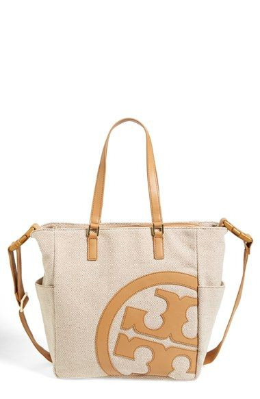5583fe2bf5d Tory Burch  Lonnie  Canvas   Leather Baby Bag available at  Nordstrom