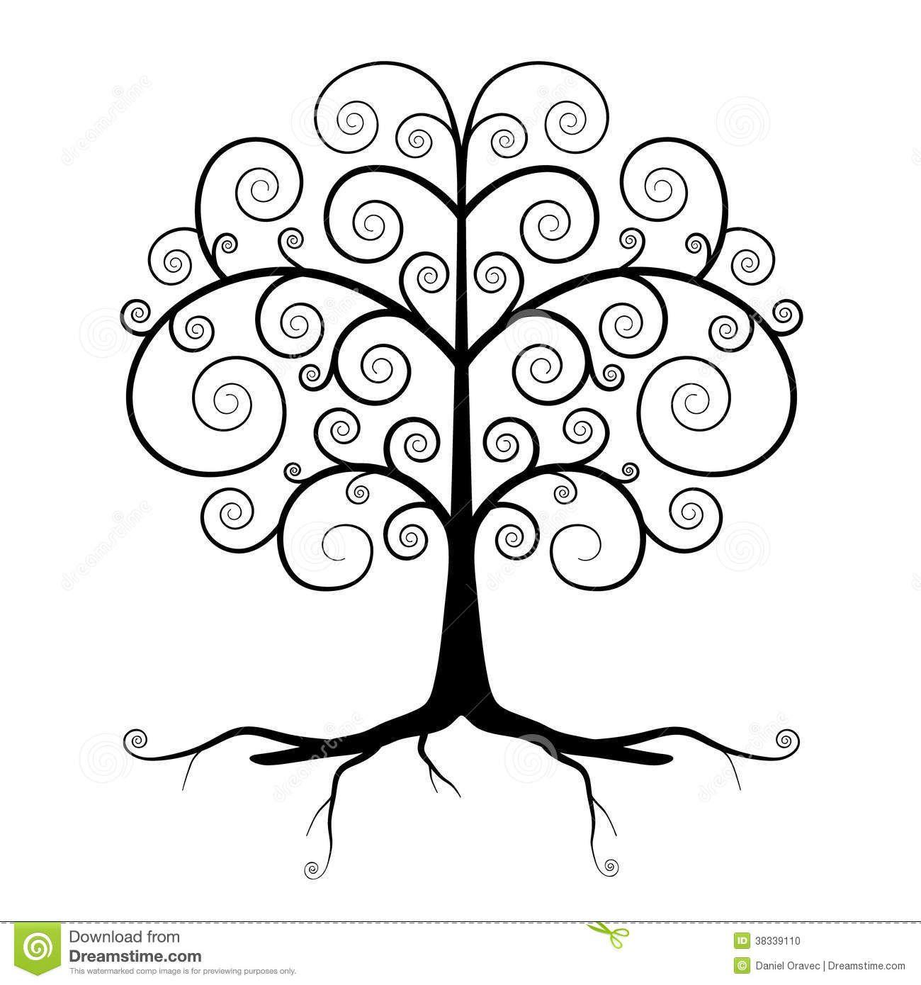 Resultado de imagen para arbol de la vida dibujo blanco y - Arboles en la pared ...