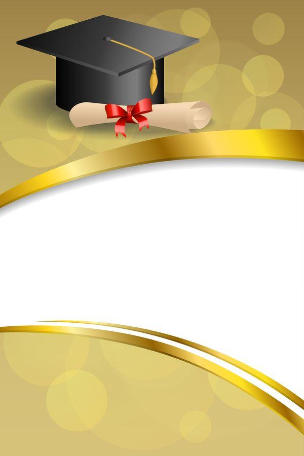 Photo of Ausbildung Diplom mit Graduation Cap und abstrakten Hintergrund Vektor 08 #Abstr…