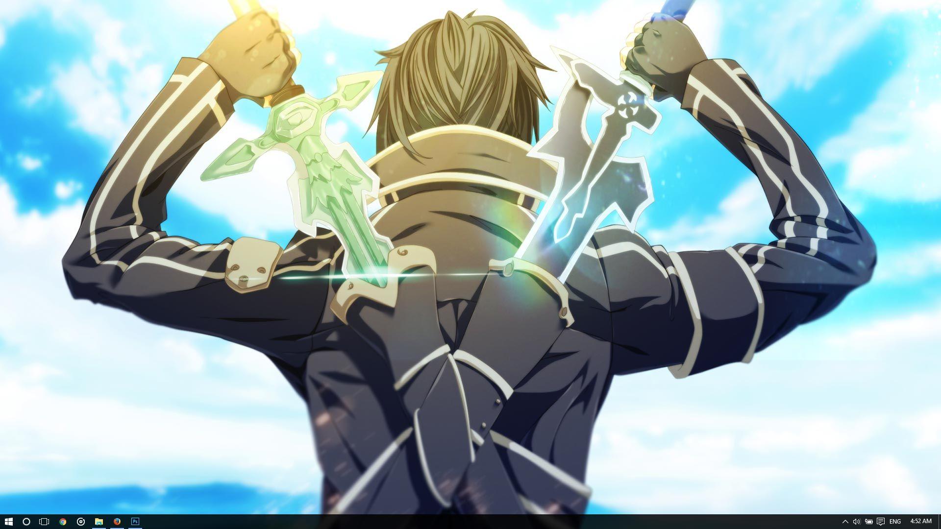 Kirito Theme for Windows 10 8 7 Sword art, Sword art
