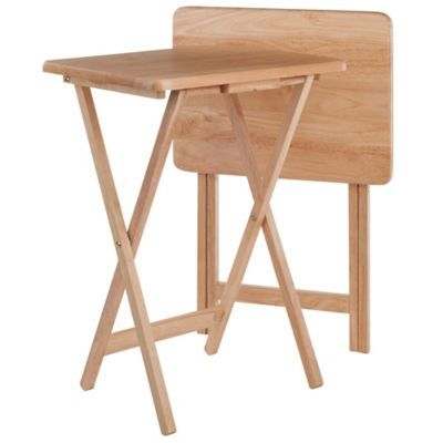 Winsome Trading Snack Tables Set Of 2 Natural Products