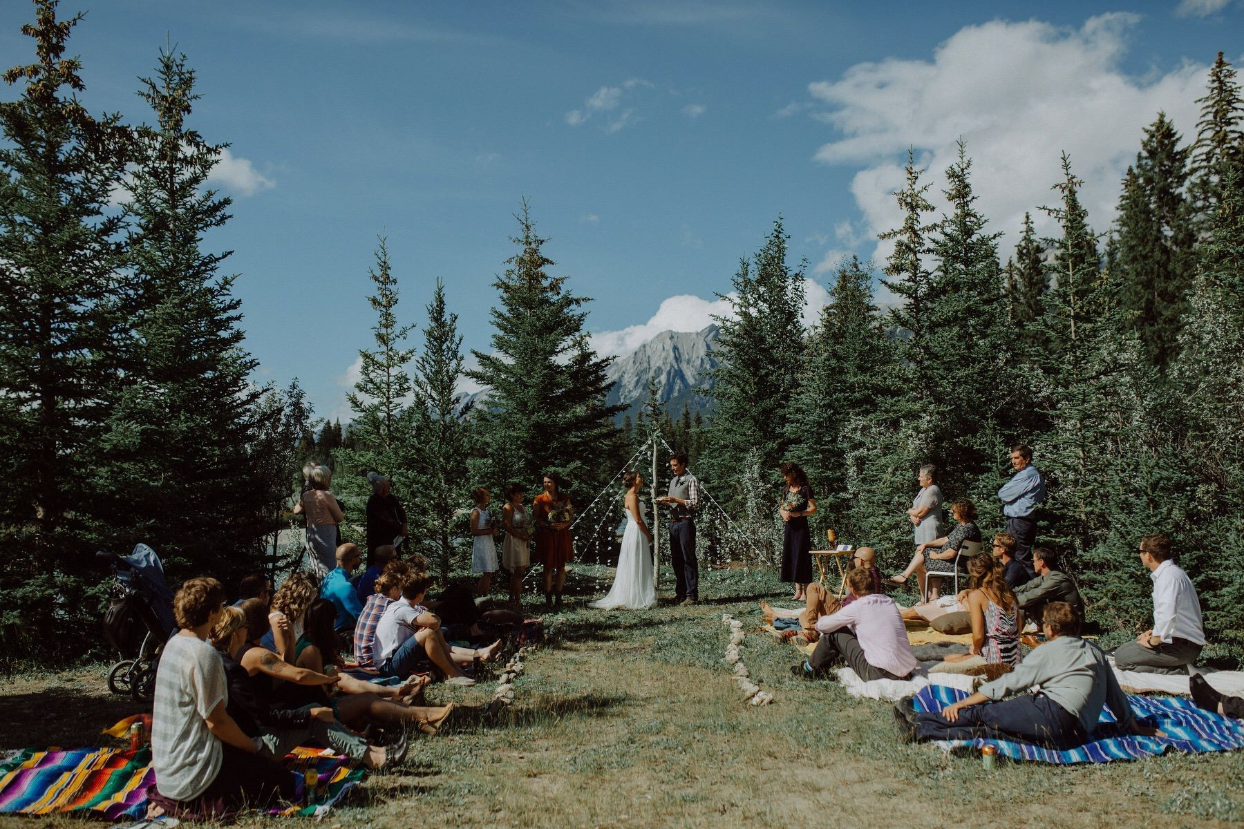 small intimate wedding in canmore ab photo by brittany esther