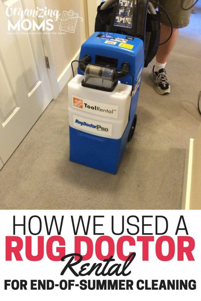 Are your carpets a mess? How we used a Rug Doctor rental for end-of-summer…