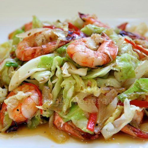 Shrimps, Cabbage and Bell Pepper Stir Fry - CASA Veneracion