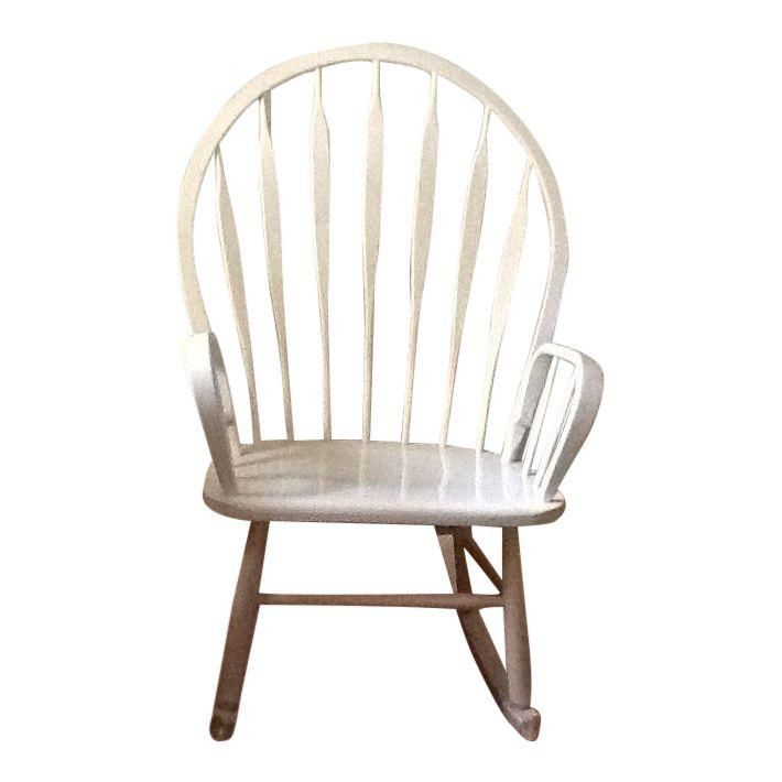 Groovy Cottage Style Wood Peacock Back Rocking Chair Products Onthecornerstone Fun Painted Chair Ideas Images Onthecornerstoneorg