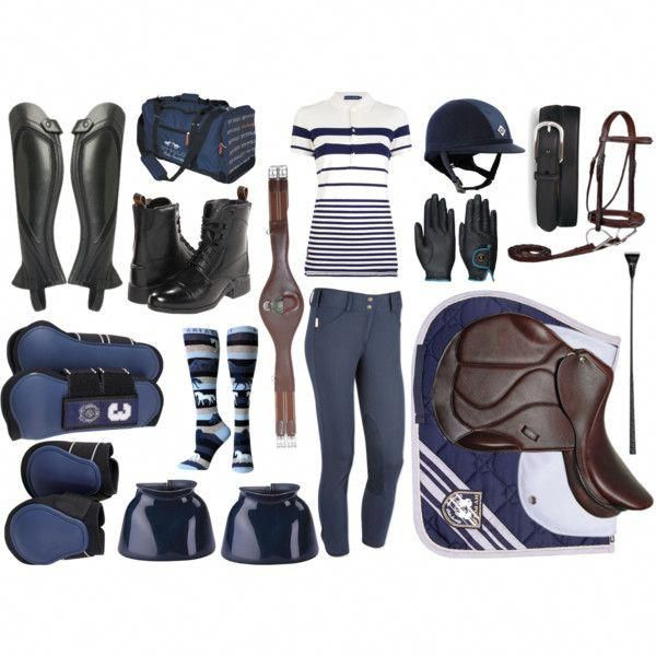 English Equestrian Fashion Riding Boots Breeches Helmet Black Grey White Dark Bl...