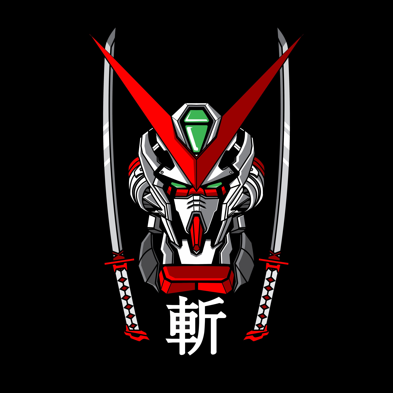 vector gundam astray gundam Latar belakang, Desain logo