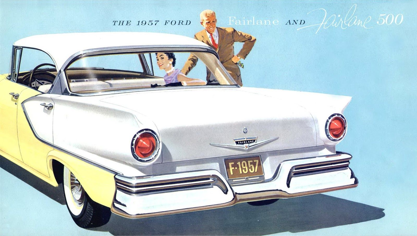 Vintage cars ads 1957 ford fairlane and fairline 500
