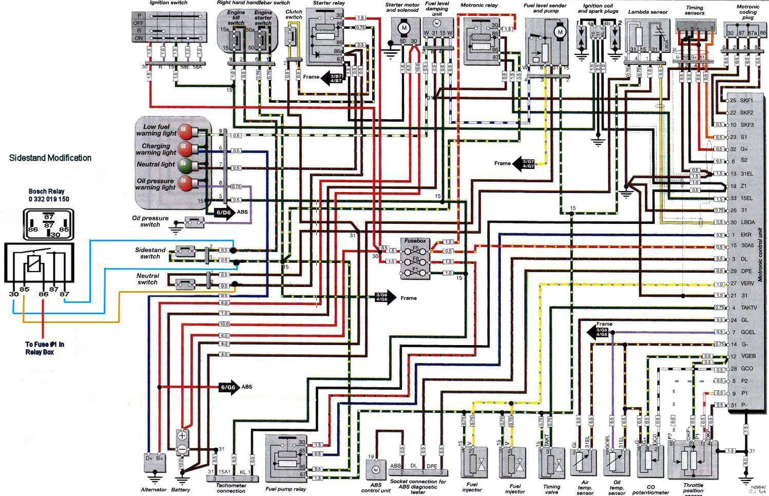 Bmw r1150r electrical wiring diagram #1 | Bike stuff | Pinterest
