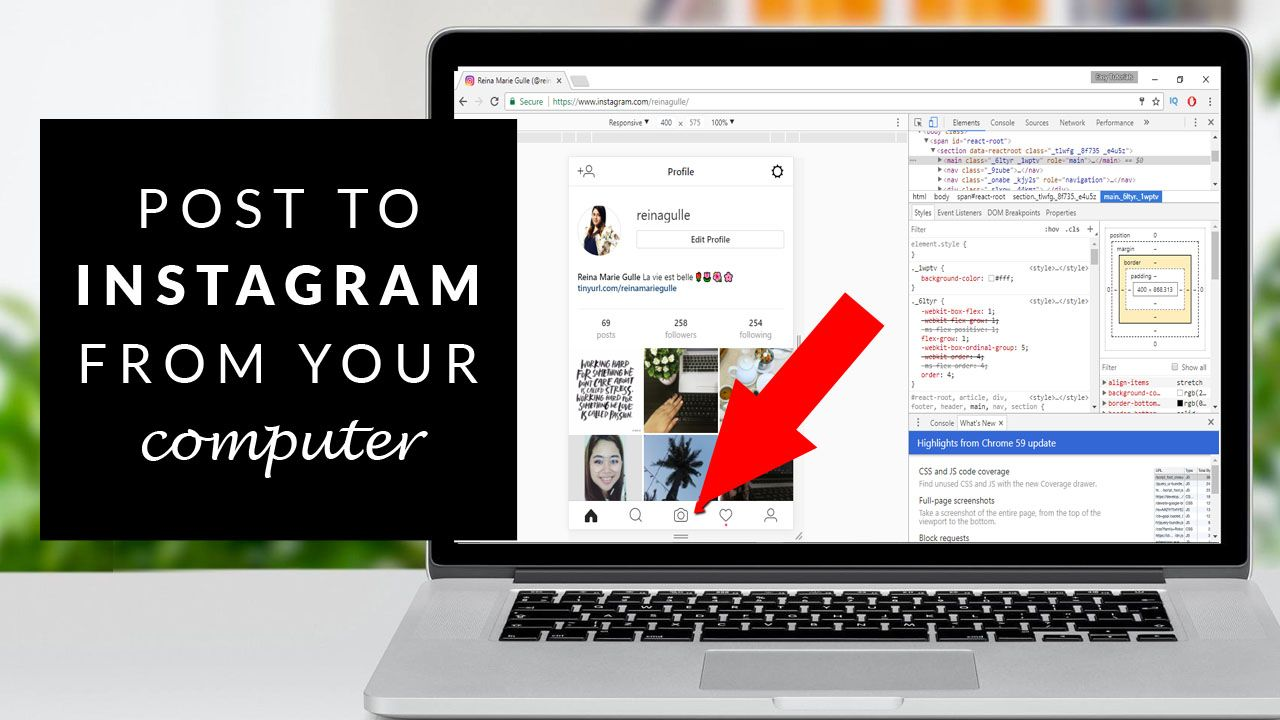 How to post to instagram from your computer easily easy