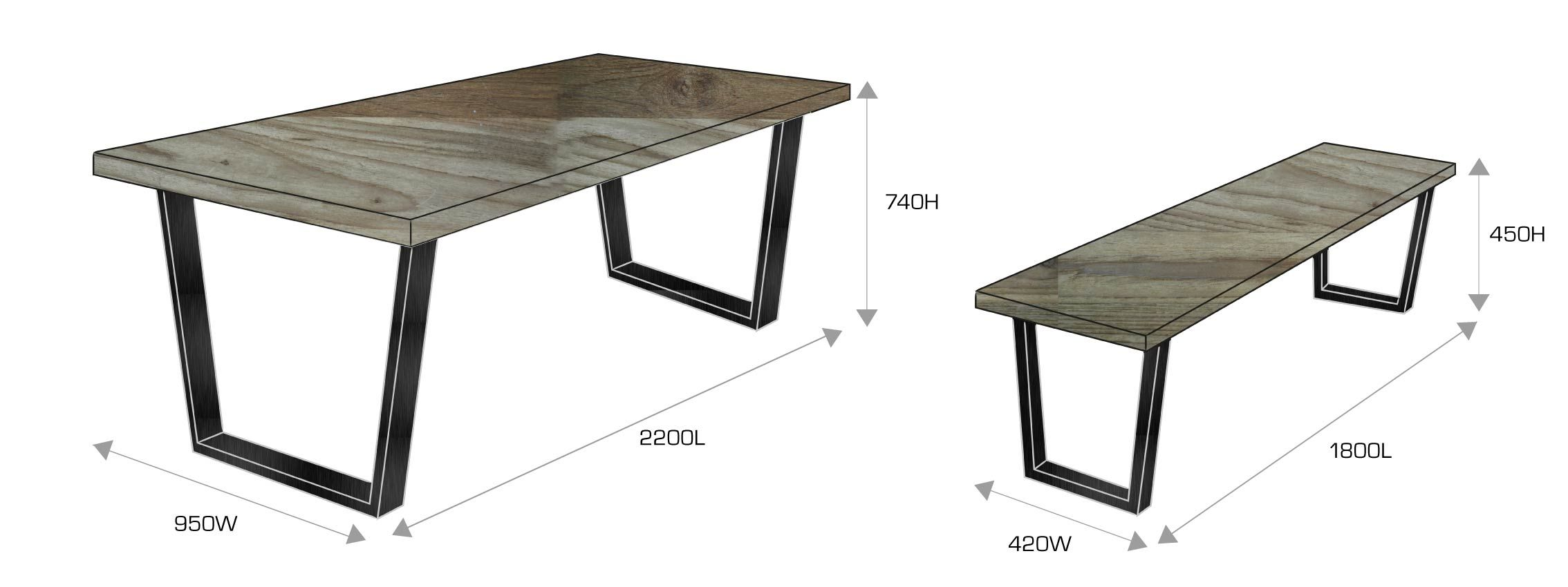 Dining Chairs Dimensions Standard Industrial Style Jpg 2268 850 Dining Table Bench Seat Dining Table Dimensions Dining Table With Bench