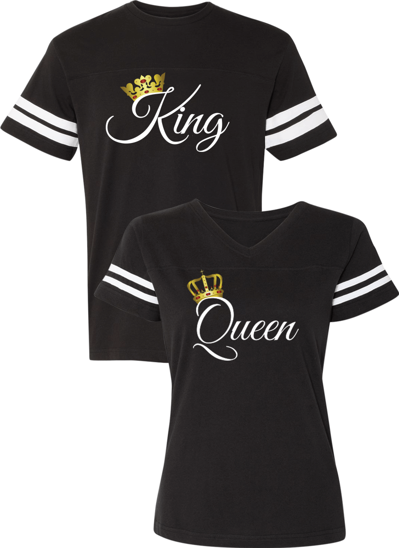 a9d85f662e King & Queen - Couple Cotton Jerseys in 2019 | King and Queen ...