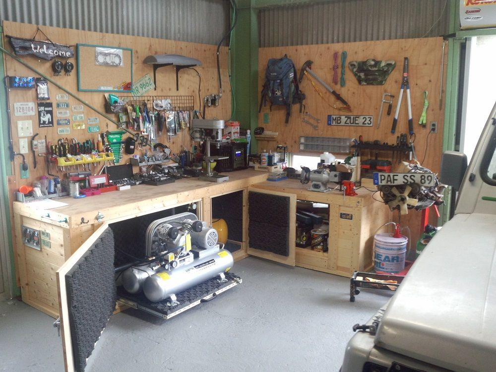 Noise Reduction For Air Compressor Garden Bench Garage Atelier