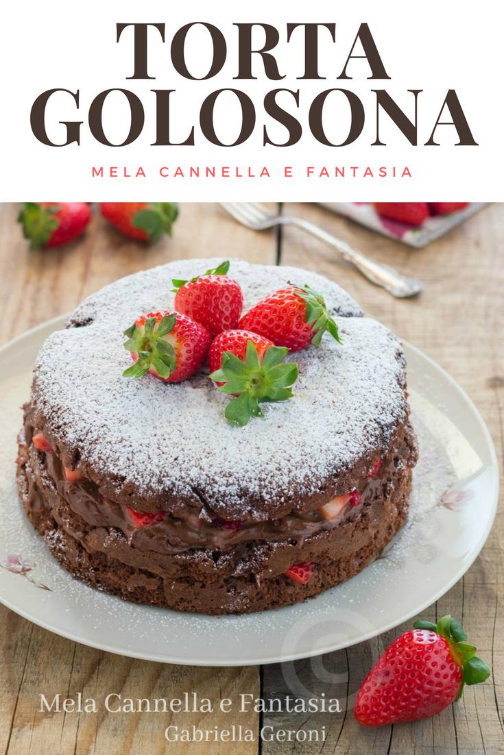 Photo of Torta golosona al cacao con Nutella mascarpone e fragole