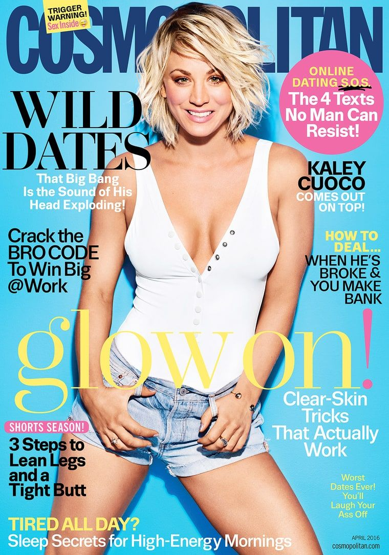 Kaley Cuoco on the cover of Cosmopolitan