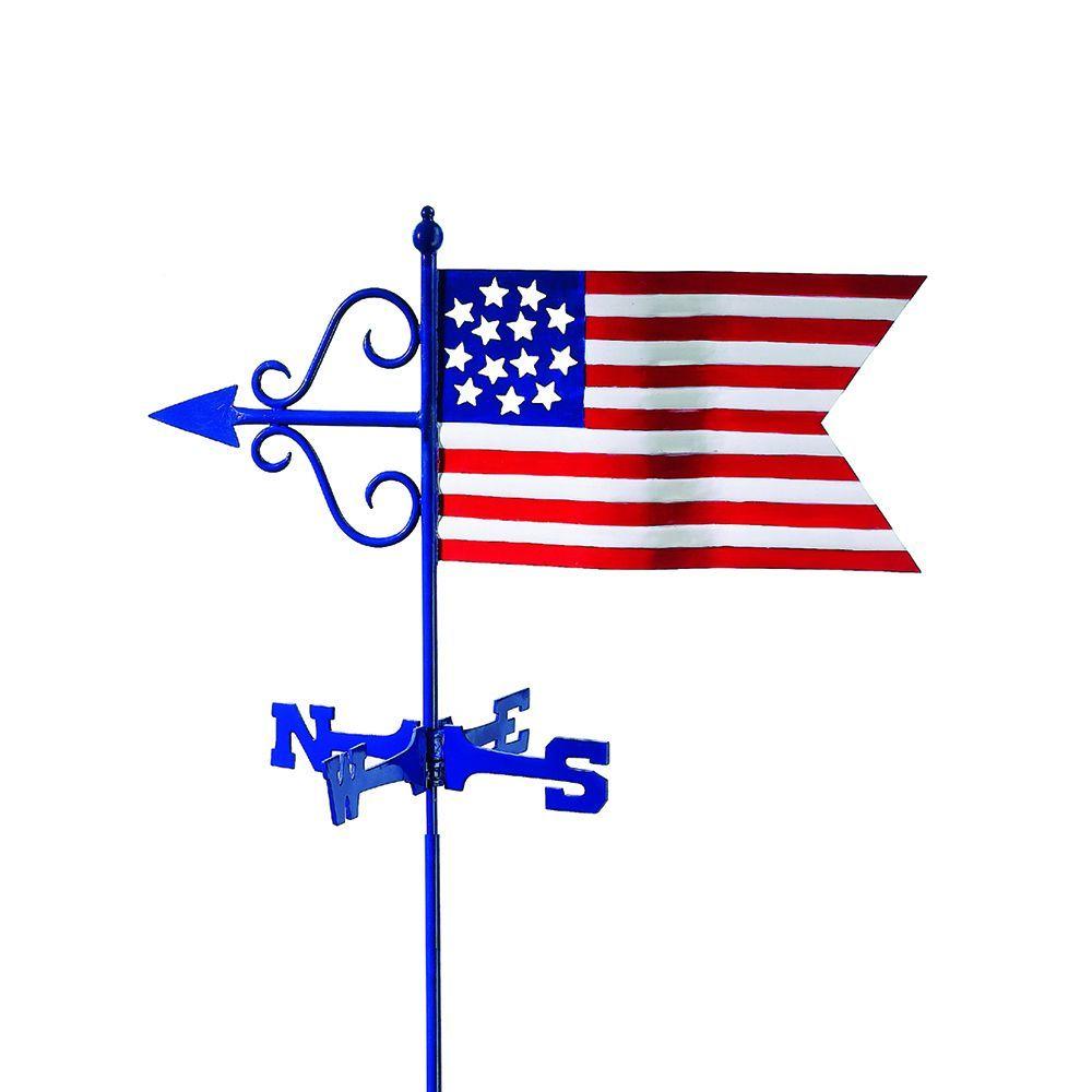 Best Americana Flag Garden Weathervane With Garden Pole By Good 640 x 480