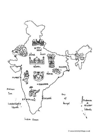 India Colouring Pages India Map Coloring Pages Map