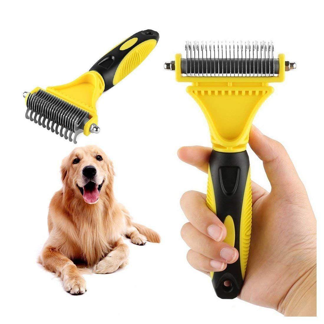 Goldsen Pet Deshedding Brush,Self Cleaning Brush Pet Brush