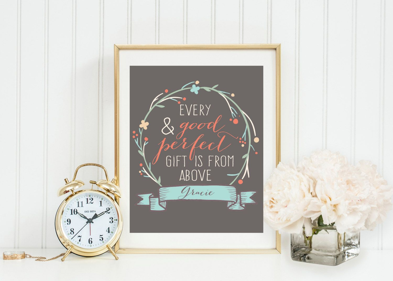 Every good and perfect gift comes from above wall artcoral