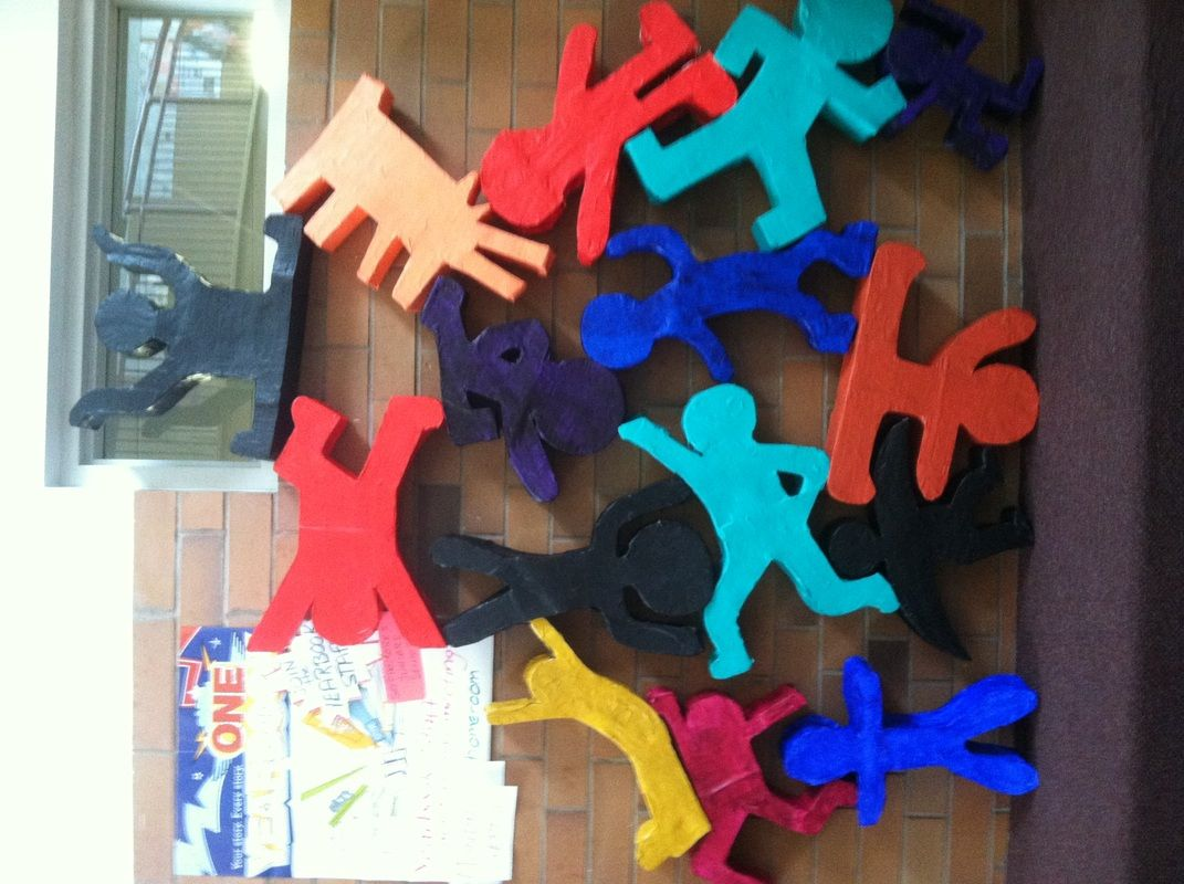 Students in Mixed Media studied pop artist Keith Haring. After research, students designed a figure in the style of the artist. The sculptures were assembled using recycled materials. The structures...