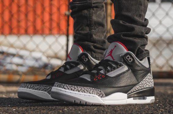new arrival 3d76c ebb67 Here s How The Air Jordan 3 Retro OG Black Cement Looks On-Feet