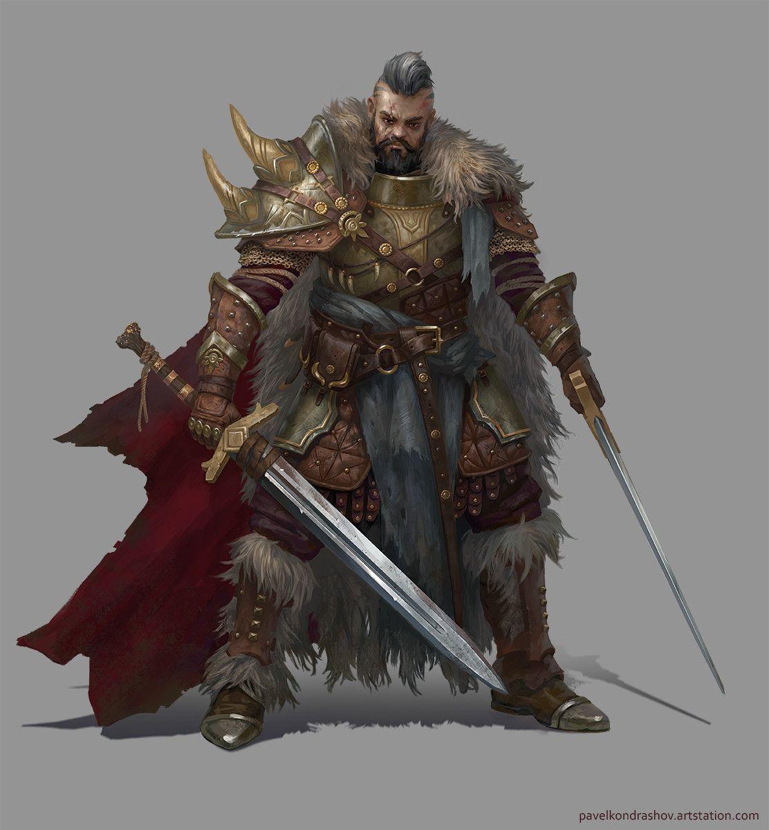 The warrior pavel kondrashov on artstation at