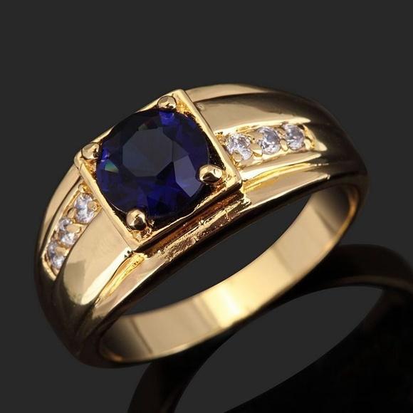 18K Gold Filled Ring Bridal Luxury Men Ring in 2020