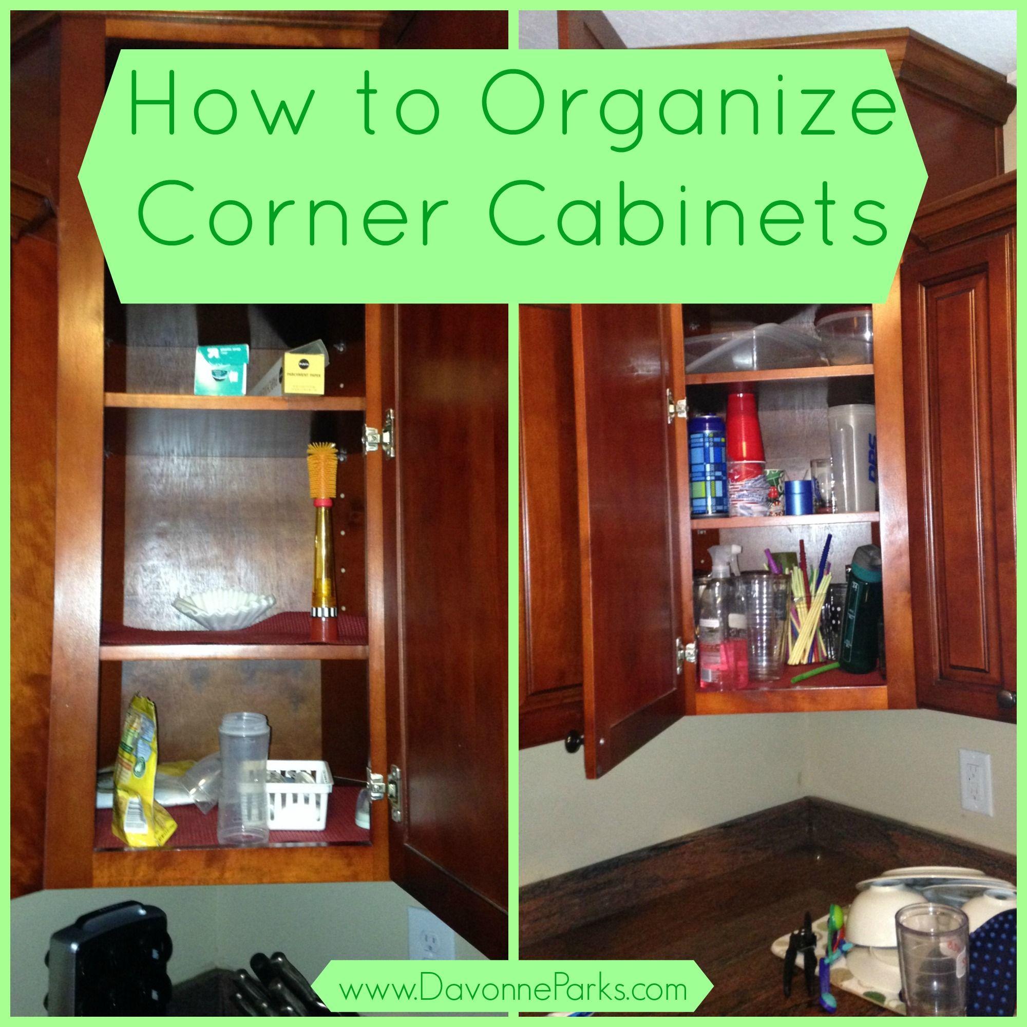 How To Organize Corner Cabinets Davonne Parks Corner Kitchen