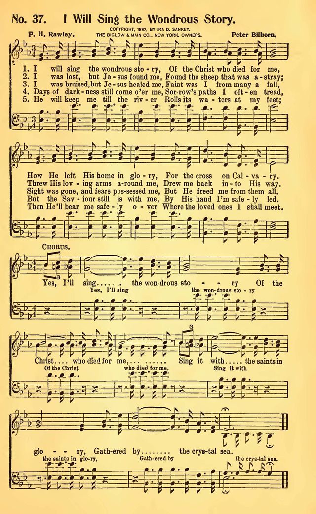 I Will Sing The Wondrous Story Hymnaryorg Gospel Song