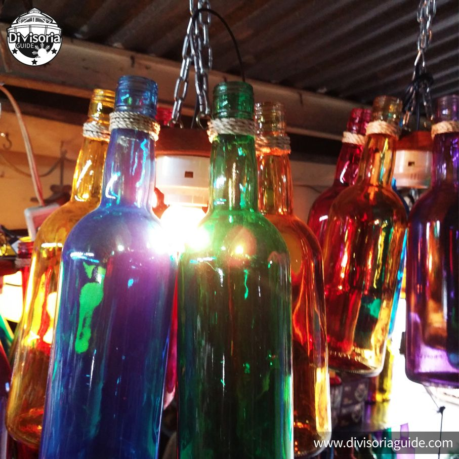 #Recycled Bottle #chandeliers At #DapitanArcade.