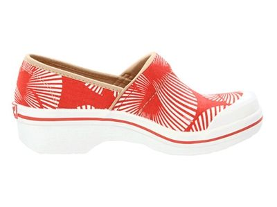 Picture of Dansko Volley Red Palm Frond Canvas
