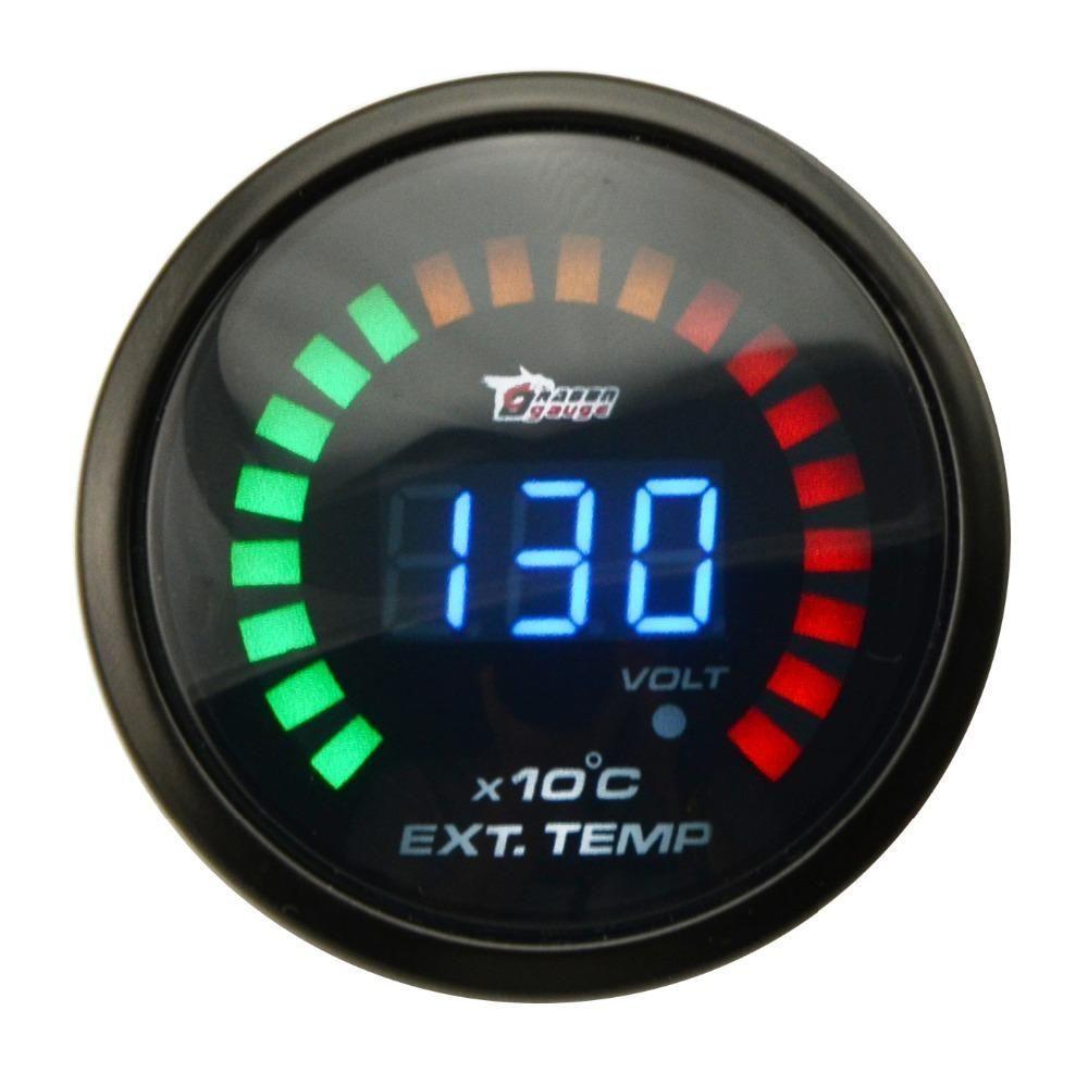 "2/"" 52mm Auto EGT Exhaust Gas Temp Gauge Auto Car LED Digital Temperature Meter"
