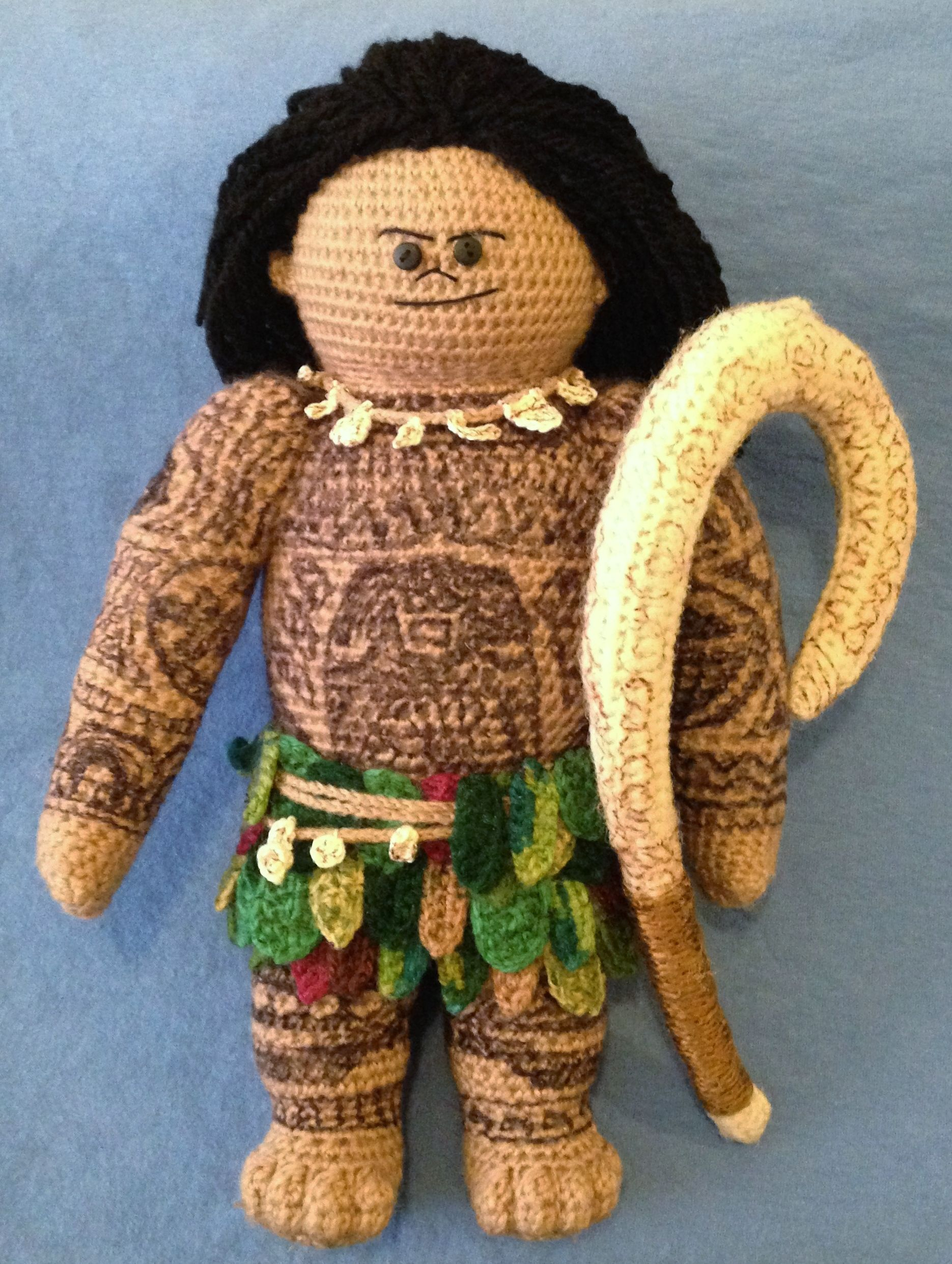 Amigurumi Disney Characters : Crocheted quot maui doll based on the character from moana