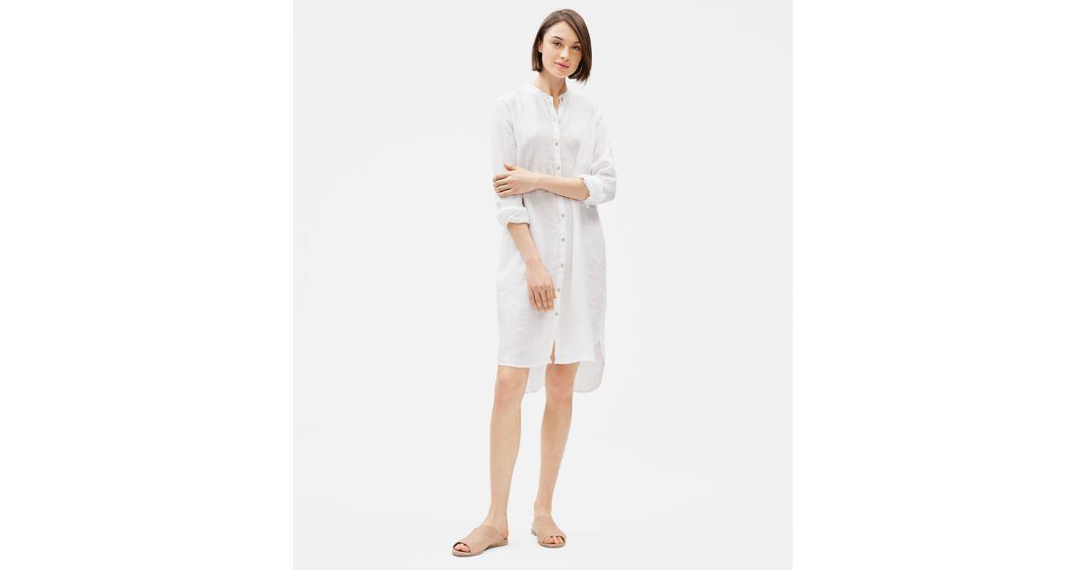 Organic Handkerchief Linen Shirt Dress Eileen Fisher Linen Shirt Dress Linen Shirt Shirt Dress Style