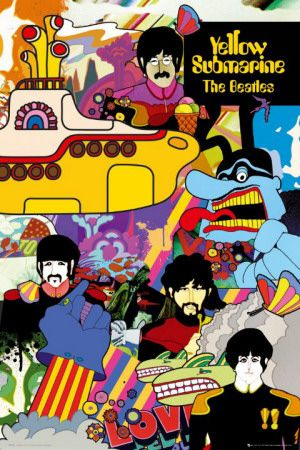 The Beatles Yellow Submarine Print In 2020 Beatles Poster