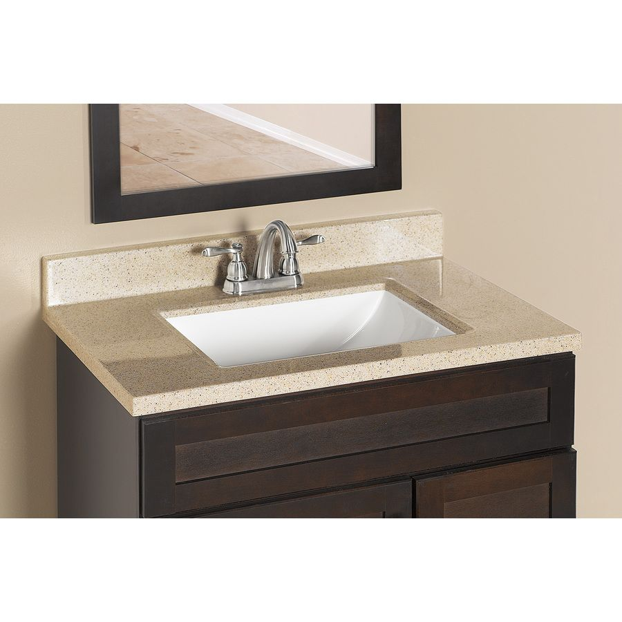 Style Selections Dune Solid Surface Integral Single Sink Bathroom Vanity Top Common